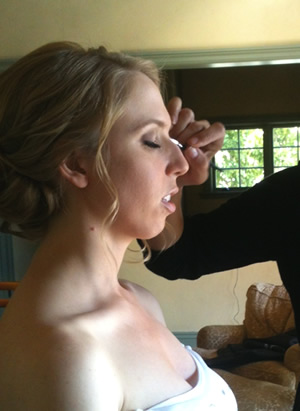 makeup being applied